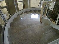 Мрамор Днепропетровск.Облицовка лестниц мрамором.