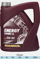 Моторное масло Mannol 5w-30 Energy Combi LL (4 л.) синтетическое