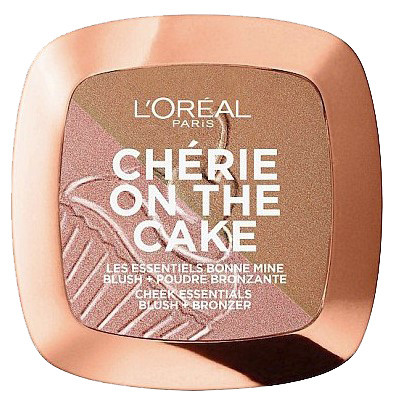 Бронзер и румяна L'Oreal Paris Cherie on the Cake Cherry Fever, оттенок 01, 9 г