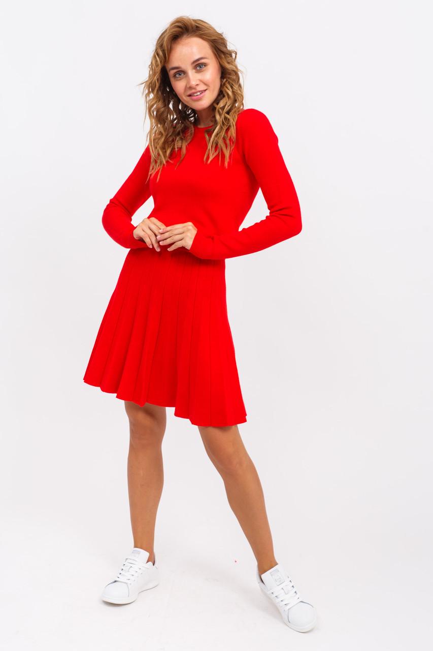 Костюм двойка кофта с юбкой LUREX - красный цвет, L/XL (есть размеры)
