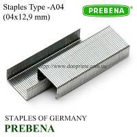 Скобы PREBENA | скоба обивочная, мебельная 4х12,9 мм