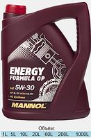 Синтетическое моторное масло MANNOL ENERGY FORMULA OP  5W-30 5L