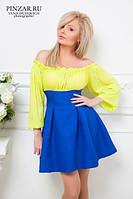 Платье лимонная синева