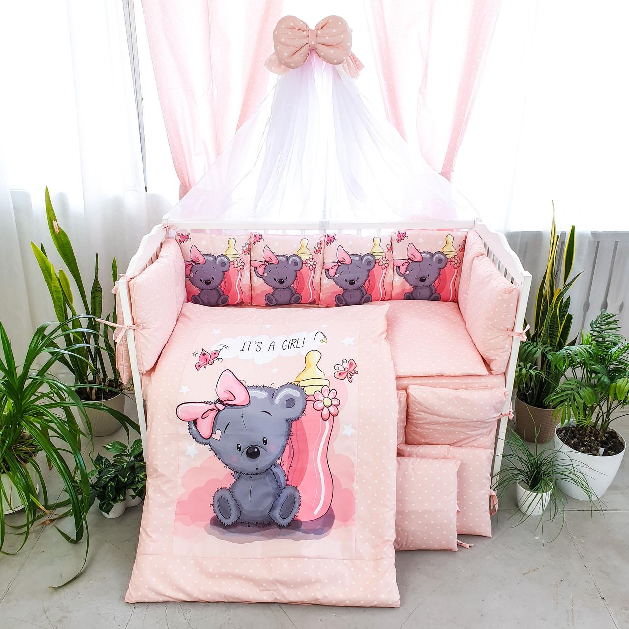 Детская постель Подушки стандарт Мишуля 8 элементов (цвета в ассортименте)Бесплатная доставк