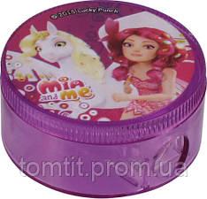 """Точилка круглая,  с контейнером """"Mia&Me"""""""