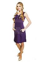 Сорочка ночная фиолетовая