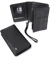 Кожаный мужской кошелек, борсетка,клатч М29