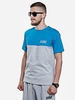 Летняя мужская футболка стильная Urban Planet blue-grey