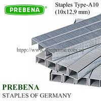 Скобы PREBENA | скоба 10х12,9 мм мебельная для пневмостеплера