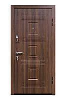 Входная металлическая дверь Престиж 802 — орех белоцерковский серия «Престиж» ТМ «КОРДОН»
