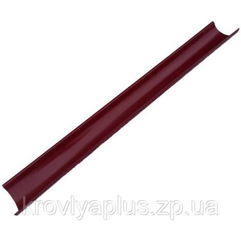 Водосток из оцинкованной стали с полимерным покрытием- Желоб вишневый,3005, фото 2