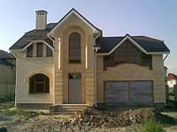Жилые дома, коттеджи, Строительство жилого дома с гаражом.
