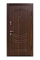 Входная металлическая дверь Престиж 801 — орех моренный серия «Престиж» ТМ «КОРДОН»
