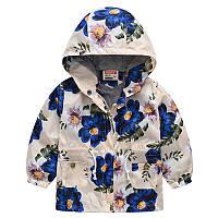 Куртка для девочки Цветы Jomake Бежевая (51123)