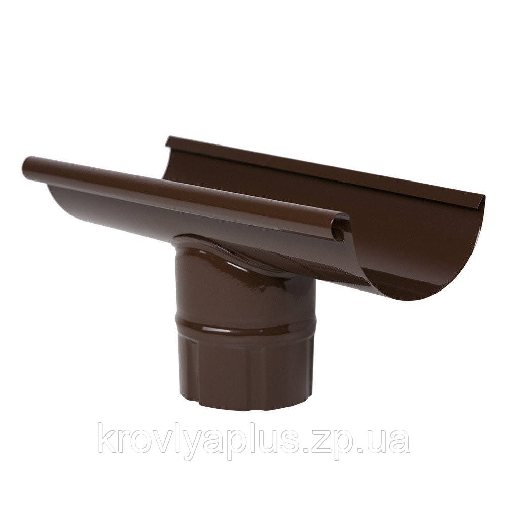 Водосток из оцинкованной стали с полимерным покрытием  - Ливнеприемник коричневый,8017