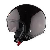Шлем (открытый с очками) LS2 OF561 WAVE черный глянцевый