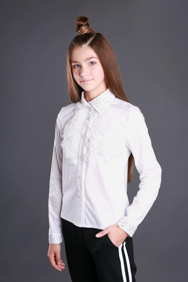 Хлопковая блузка с бусинками MONE р-ры 152
