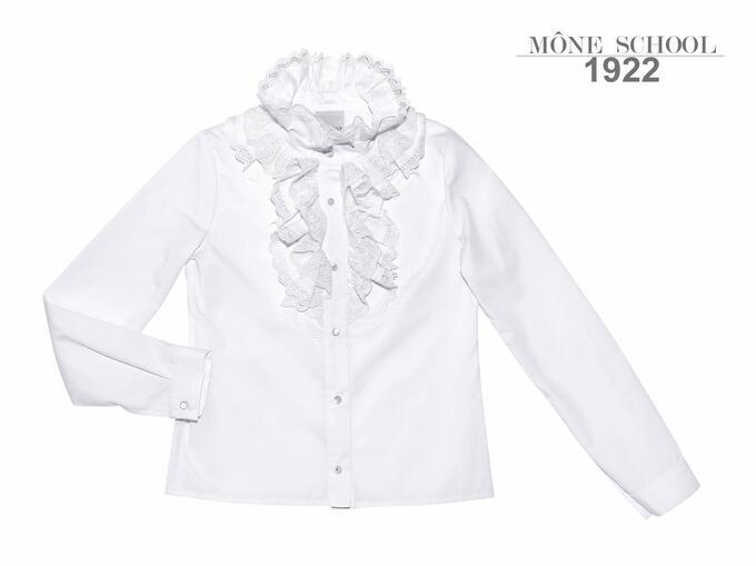 Школьная блузка с длинным рукавом  р-р 152