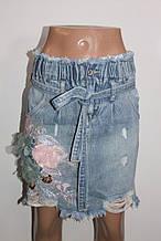 Юбка джинсовая женская арт   XS  S  M   арт 8023-3
