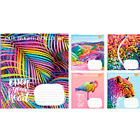 Тетрадь школьная, А5 на 48 листов, линейка, RAINBOW WORLD, цена за упаковку 10 штук, 763831