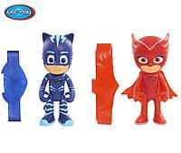 Набор фигурок Кэтбой и Cовка, оригинал, с подсветкой, браслет, Герои в масках - PJ Masks, Just Play - 156187