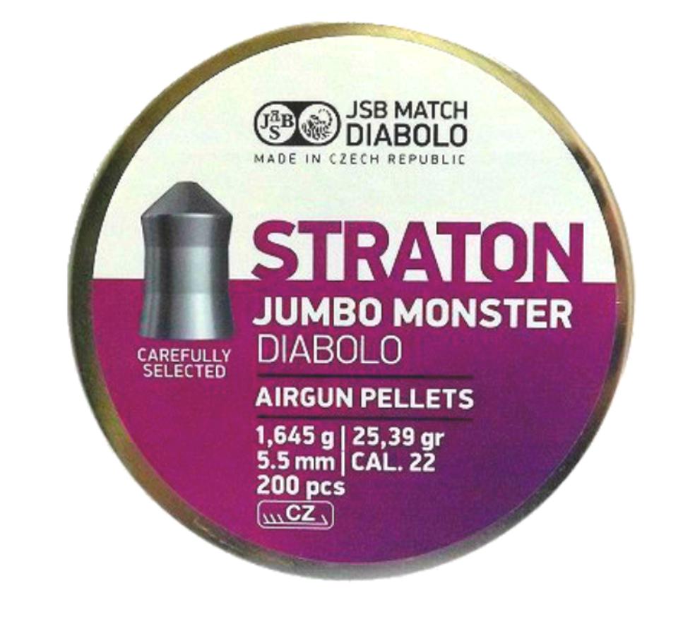 Пули пневматические JSB Diabolo Straton Jumbo Monster, 200 шт/уп, 1,645 г, 5,51 мм