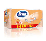 Zewa Deluxe Персик бумага туалетная 3-х слойная, 16 шт.