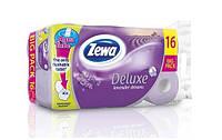 Zewa Deluxe Лаванда бумага туалетная 3-х слойная, 16 шт.