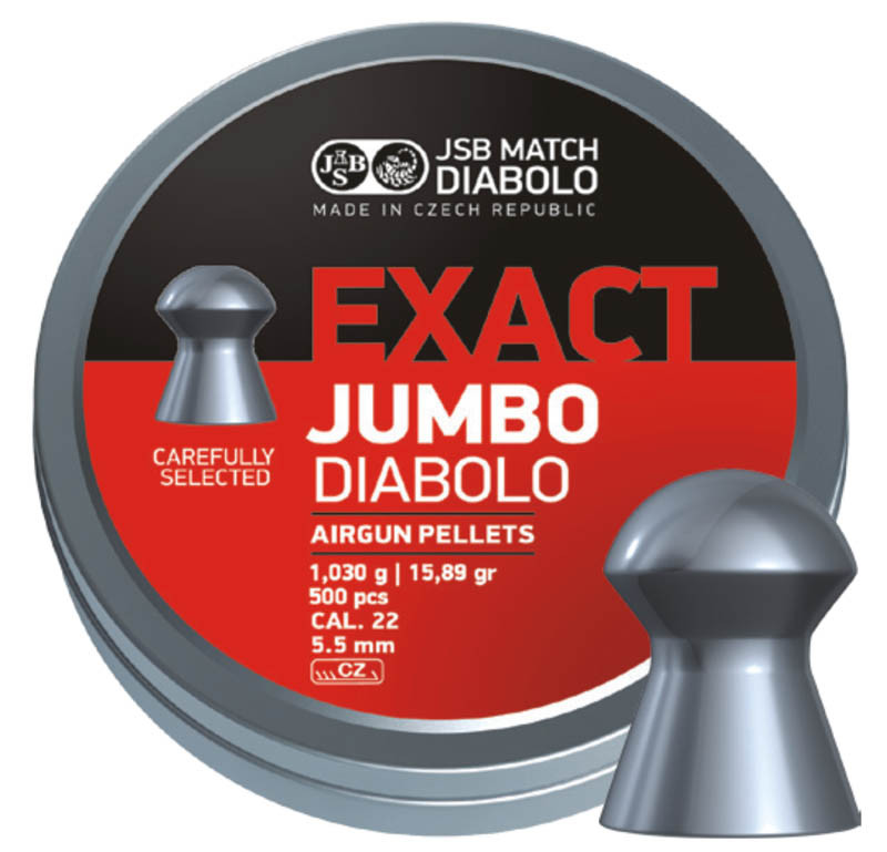 Пули пневматические JSB Exact Jumbo, 500 шт/уп, 1,03 г, 5,51 мм