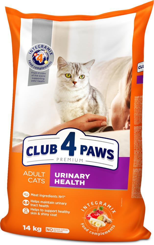 Сухий корм Клуб 4 Лапи Преміум 14 кг підтримка здоров'я сечовидільної системи для кішок
