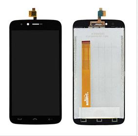 Дисплей (экран) для Homtom HT50 с сенсором (тачскрином) черный Оригинал