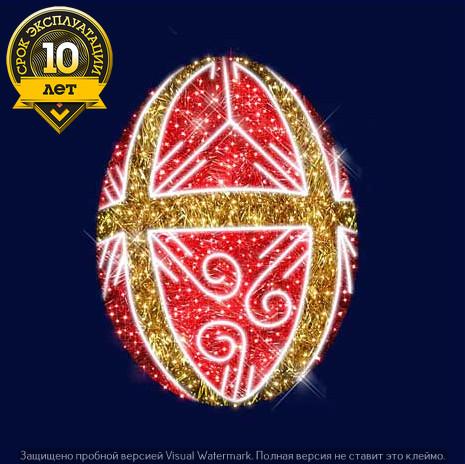 """3D светодиодная конструкция пасхальное яйцо """"Мономах"""""""