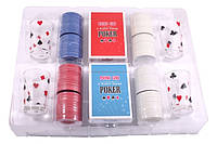 Настольная игра в пьяный покер, 200 фишек, 4 рюмки