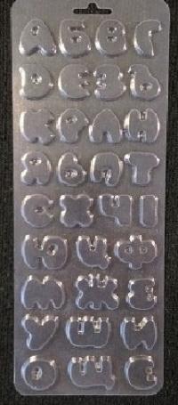 Форма пластикова для шоколаду Алфавіт