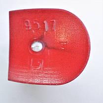 Каблук женский пластиковый 9517 красный р.1-4  h-8,6-9,7 см., фото 3