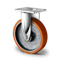 Неповоротное колесо 160 мм чугун/полиуретан шариковый подшипник нагрузка 500 кг