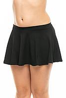 Трикотажная юбка чёрная для танцев и хореографии