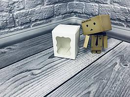 *10 шт* / Коробка / Бонбоньерка / 60х60х75 мм / Белый / окно-обычн