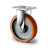 Колесо неповоротне 200 мм чавун/поліуретан кульковий підшипник навантаження 1000 кг