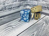 Коробка / Бонбоньерка / 60х60х75 мм / печать-Снег.Син / б.о. / НГ, фото 1