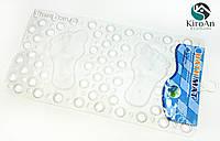 """Силиконовый коврик для ванной на присосках """"Ножки"""" прозрачный"""