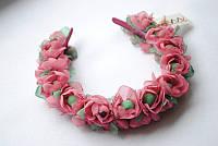 Обруч из цветов «Розочки»