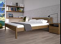 Кровать двуспальная ТИС Классика сосна орех