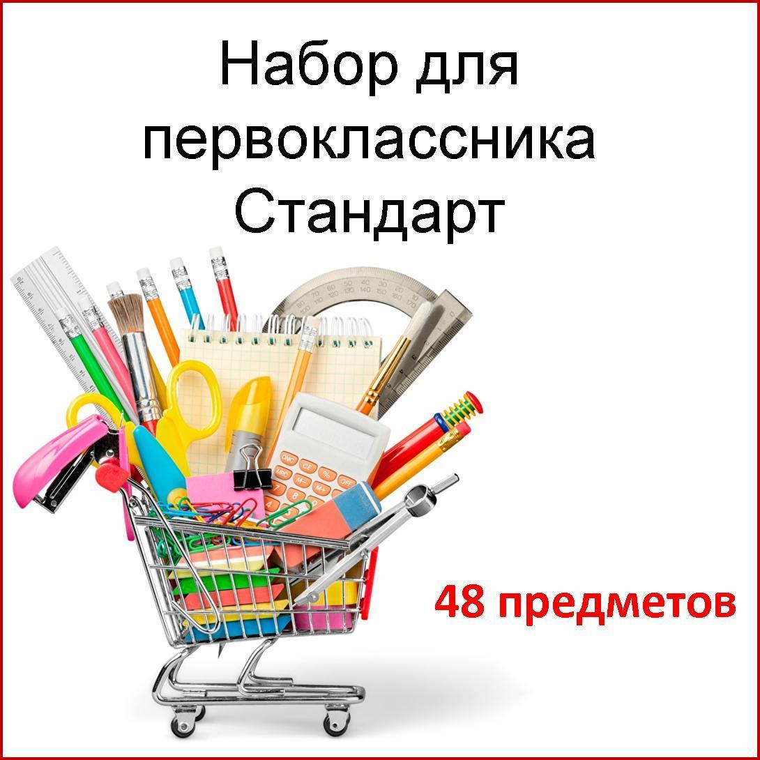 Школьный набор комплект первоклассника универсальный  Стандарт 48 предметов,подарок выпускнику детского сада