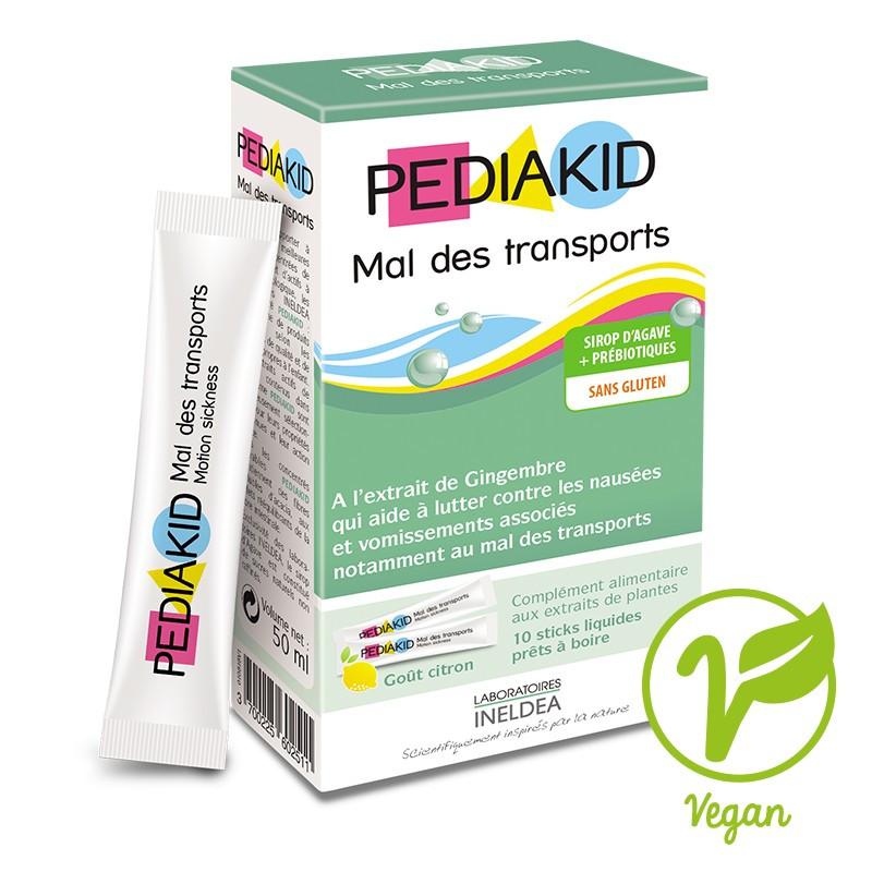 Сироп в стиках  для детей, устранение  тошноты,рвоты и укачивания в транспорте  Pediakid, 10 стиков