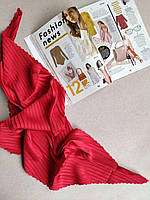 Женский платок плиссе Классический красный
