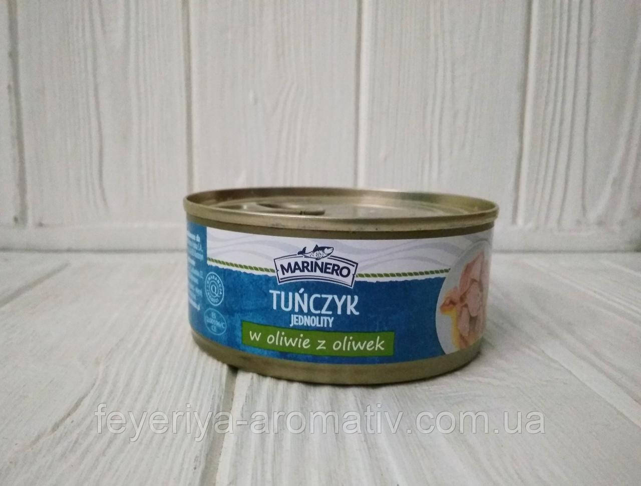Тунец в оливковом масле Mariero Tunczyk w oliwie z oliwek 160/104гр (Польша)
