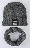 Теплый комплект для мальчиков цвет серый