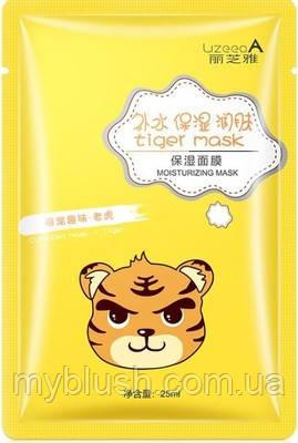 Восстанавливающая тканевая маска для лица с принтом Тигр LizeeaA Animal 25 g