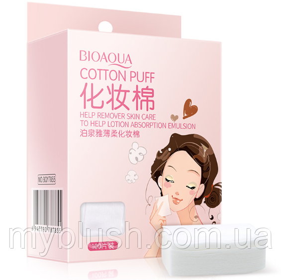 Косметические салфетки Bioaqua Cotton Puff (100 шт)